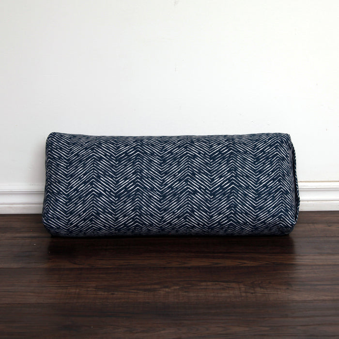 Yoga Bolster - Navy Arrow