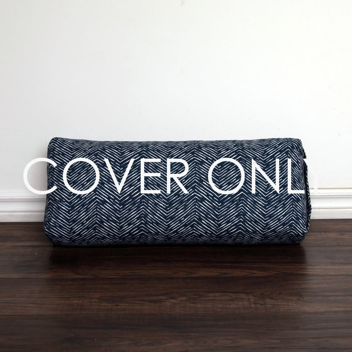 Yoga Bolster - Navy Arrow - COVER ONLY