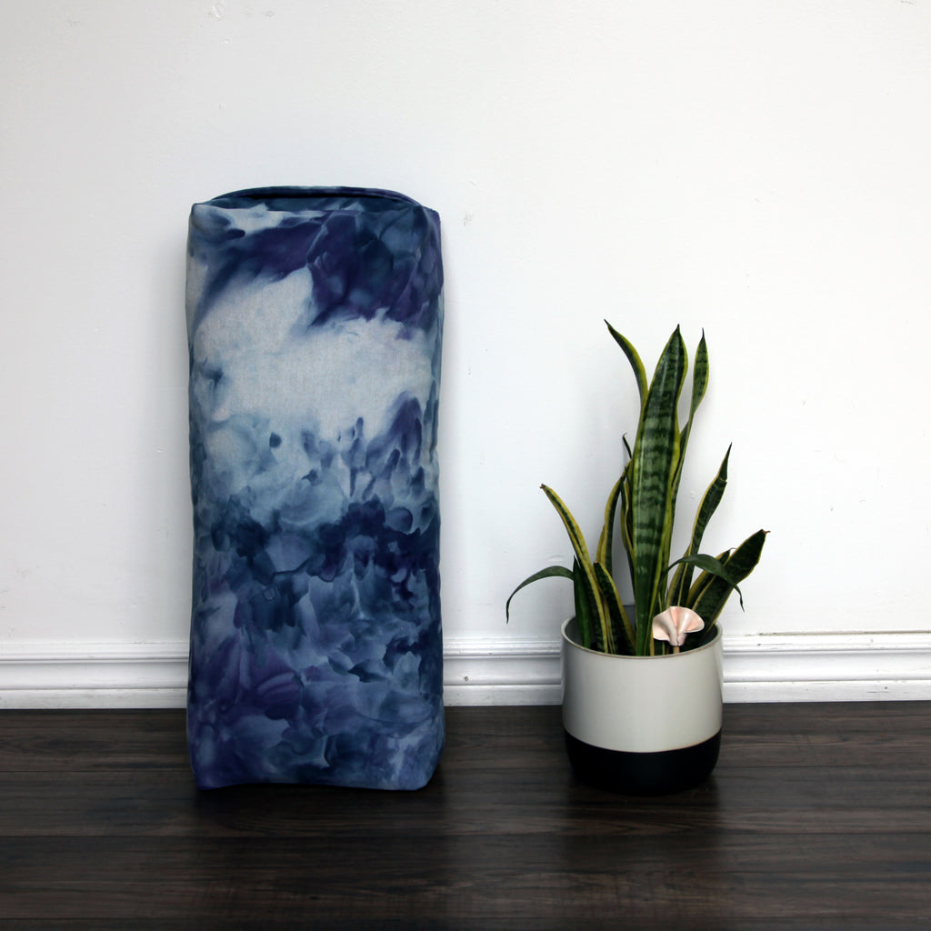 Yoga Bolster - Hand Dyed Sea Change - COVER ONLY