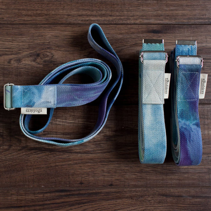 Hand Dyed Yoga Stretching Strap