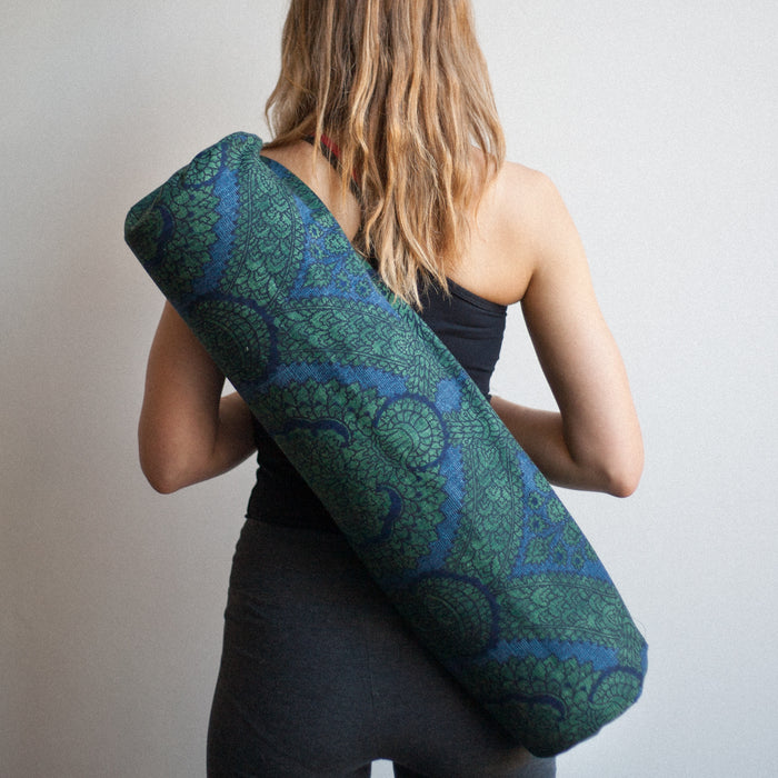 Yoga Mat Bag - Blue Morris