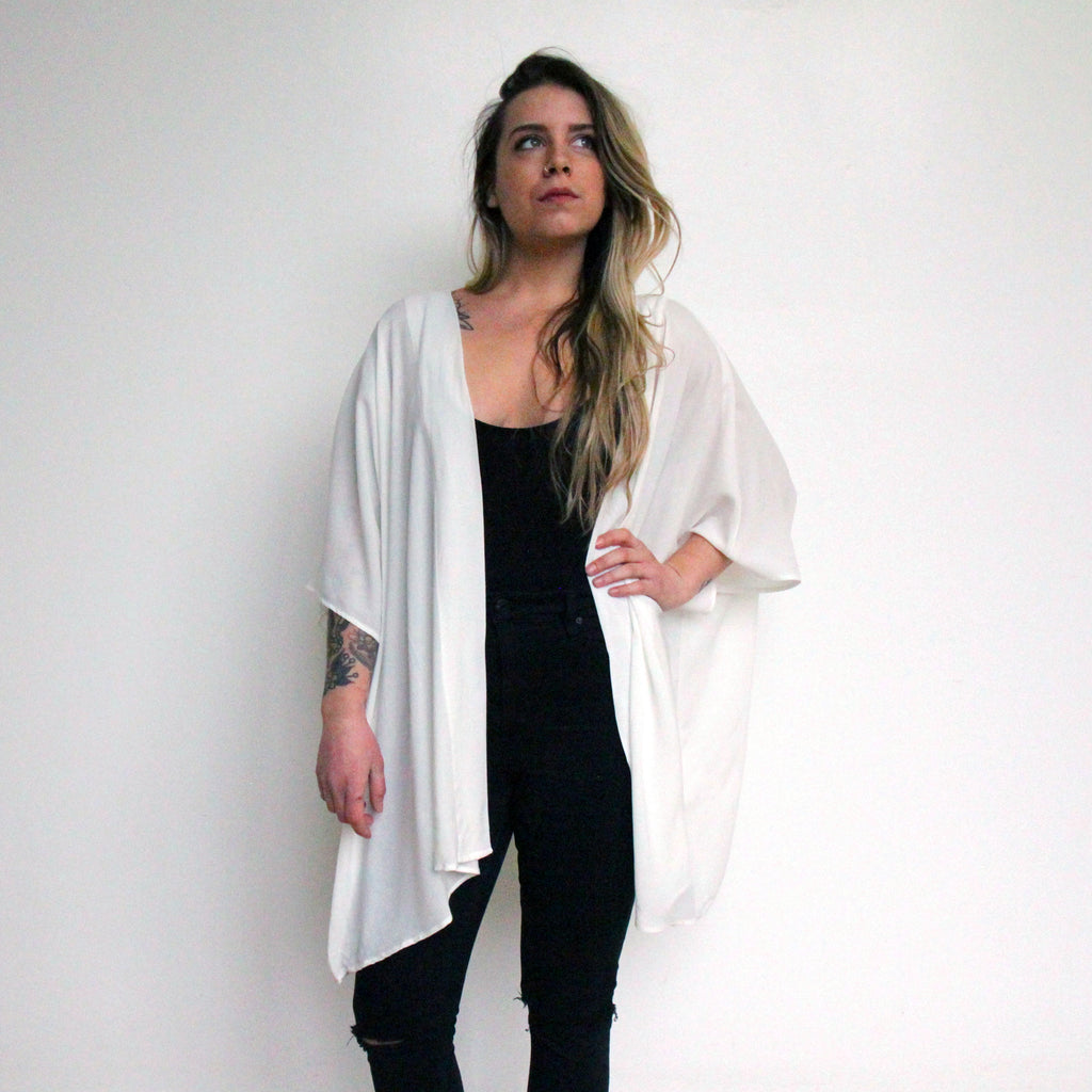 Cocoon Shawl - White