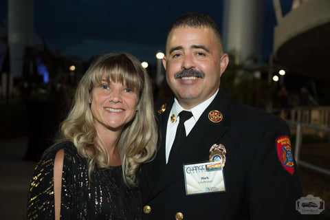 Jessica and her husband Fire Chief Mark Schollmeyer