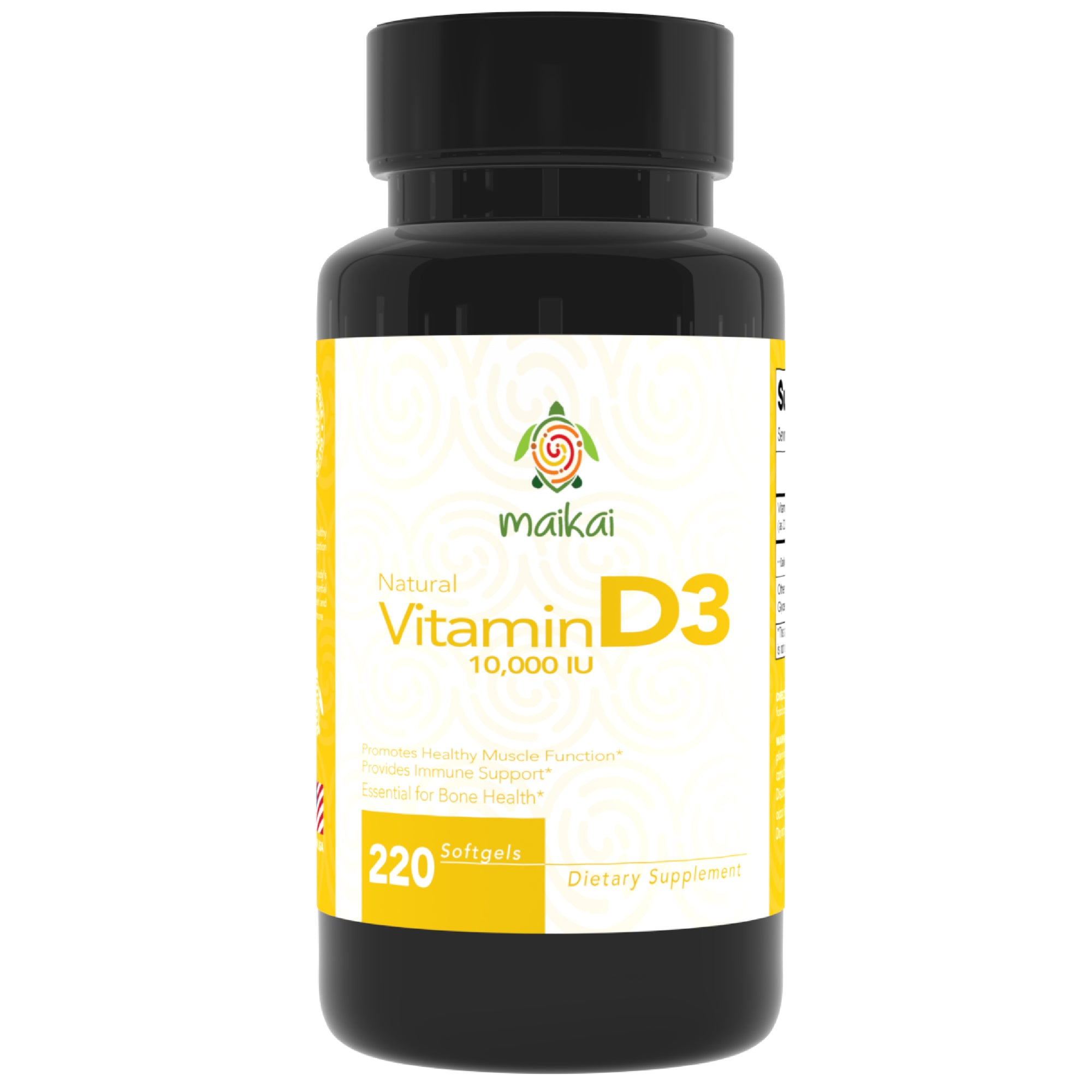 Vitamin D3 - 10,000 IU. 220 Count