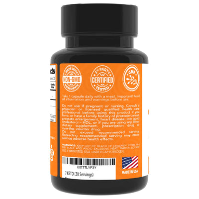 7 Keto DHEA, 100 Mg, Enhances Metabolism and Promotes Weight Loss, 30 Softgels