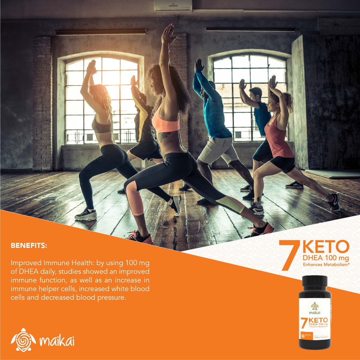 7 Keto DHEA, 100 Mg, Enhances Metabolism and Promotes Weight Loss, 60 Softgels