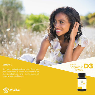 Vitamin D3 - 10,000 IU. 90 Count
