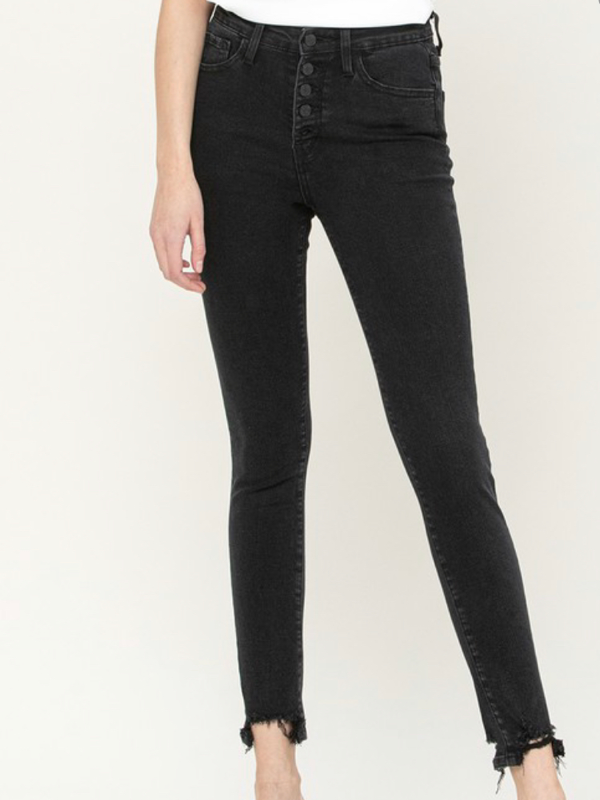 High Waisted Black Denim