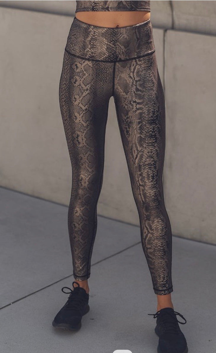 Foil Print High Waist Legging