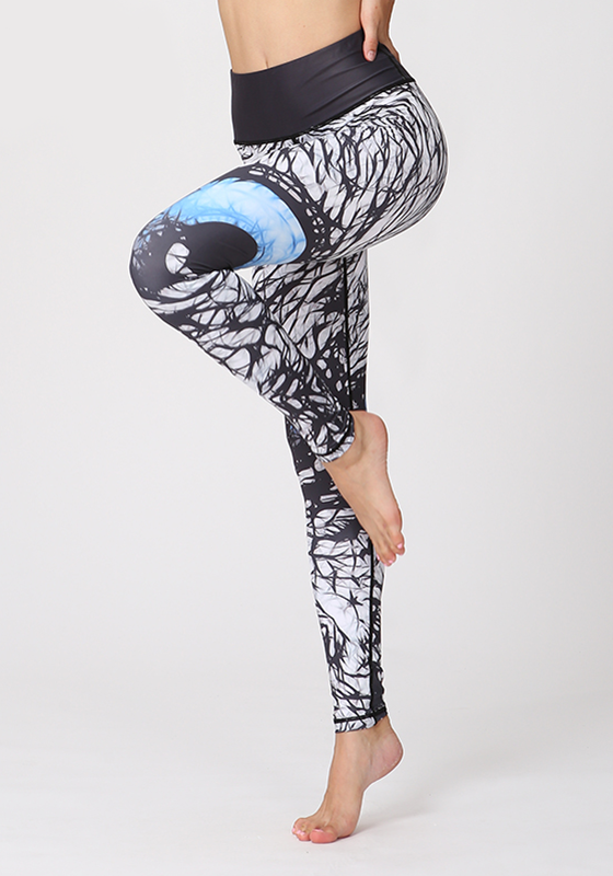 White Spot Printed Slim Fit Leggings
