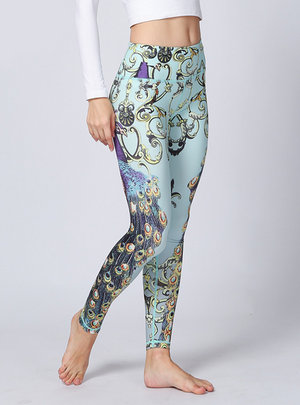 Peacock Print Slim Fit Leggings