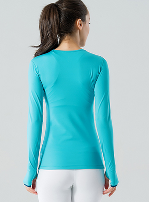 Sanded Fabric Soft Slim Fit Yoga Shirt