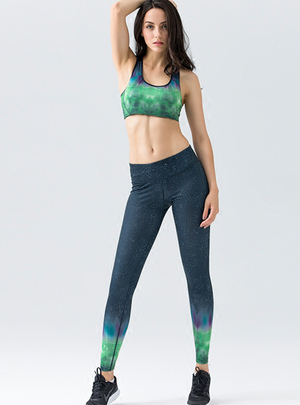 Spectral High Waisted Slim Fit Leggings