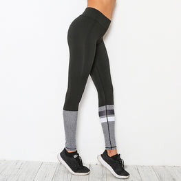 Black & Grey High Waisted Slim Fit Leggings