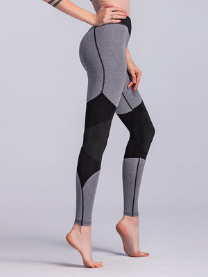 Grey High Waisted Slim Fit Leggings