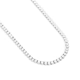 4MM Diamond 3-Pronged Tennis Chain In White Gold *NEW*