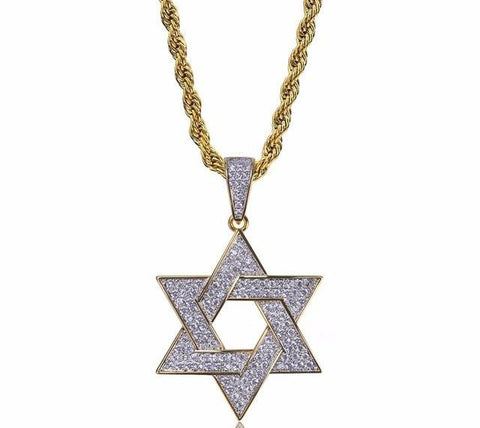 Flooded Star Of David Necklace