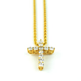 MICRO DIAMOND CROSS NECKLACE