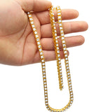 14K Gold Diamond Tennis Chain