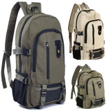 Vintage Travel Canvas Leather Backpack