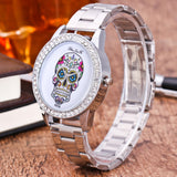 Women's Silver Crystal Luxury Time Piece