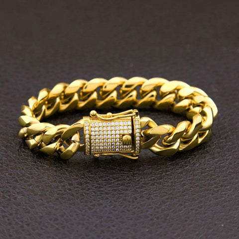 Cuban Link Bracelet With Iced Clasp *NEW*