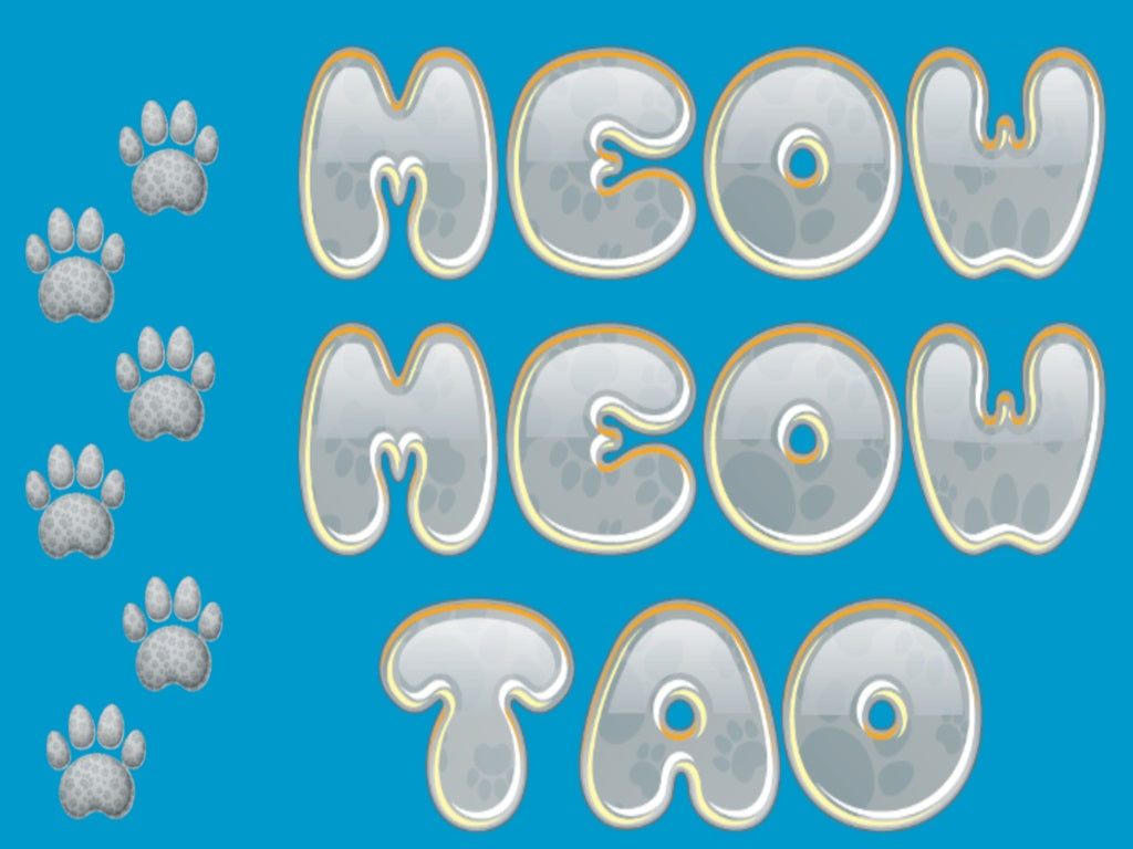 Feline fun and products including an App Store game Meow Meow Tao and game pieces. Cat themed products and fun.