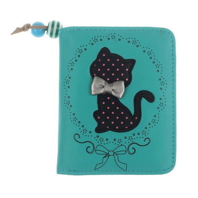 Xiniu Printing Odd Tail Cat Purse Short Wallet Bags Lady Card Holder sacoche homme #XTJ