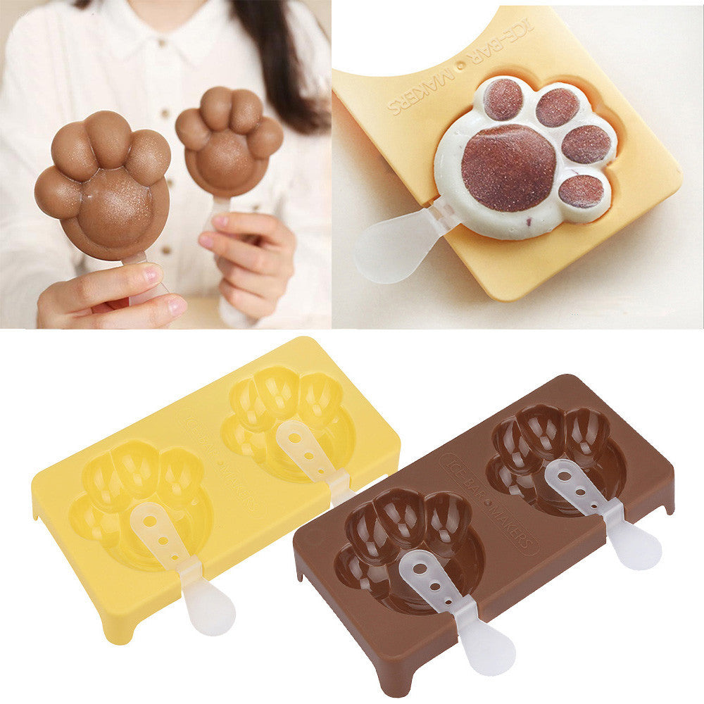 Cat Claw Sakura Cherry Flower Shape Popsicle Ice Cream Maker Molds Tray