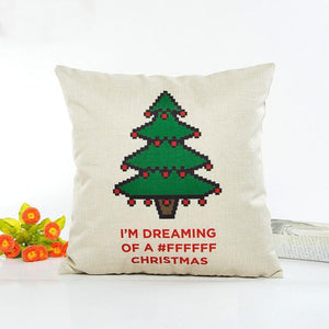 Christmas Cat  Pillow Case Sofa Waist Throw Cushion Cover Home Decor