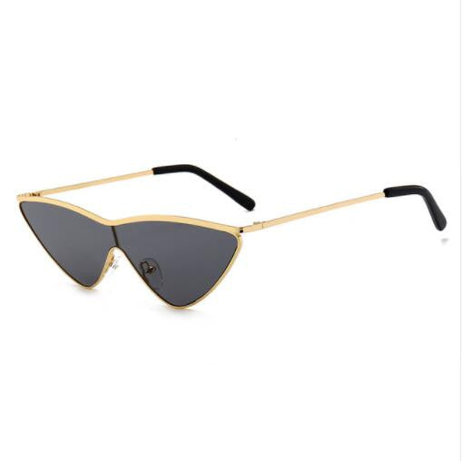 ROYAL GIRL Fashion Cat Eye Sunglasses for Women Metal Small Triangle Frame Shades