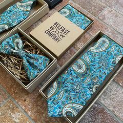 Liberty of London Tie in Teal Paisley