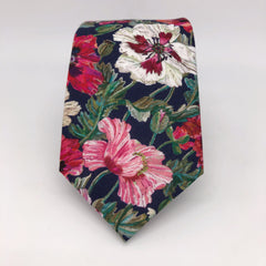 Liberty of London Wedding Tie in Poppy by the Belfast Bow Company