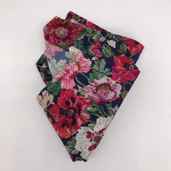 Liberty of London Wedding Pocket Square in Poppy by the Belfast Bow Company