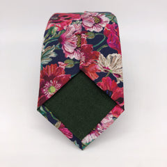 Liberty of London Tie in Poppy with Irish Linen tip by the Belfast Bow Company