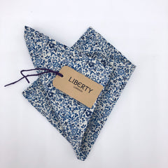 Liberty of London Pocket Square in Navy and White Ditsy Floral by the Belfast Bow Company