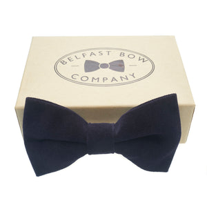 Velvet Bow Tie in Navy by the Belfast Bow Company