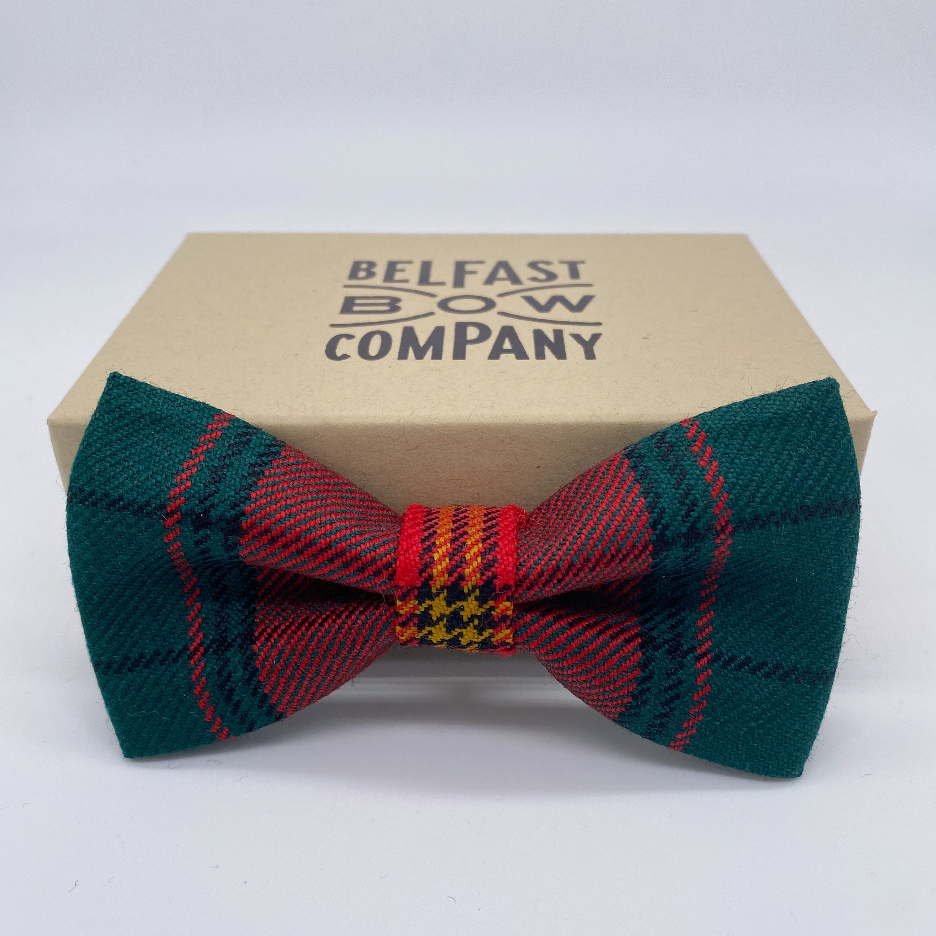 Ulster Tartan Bow Tie by the Belfast Bow Company