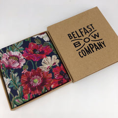 Liberty of London Pocket Square in Poppy by the Belfast Bow Company