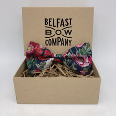 Liberty of London mens dicky Bow in Poppy by the Belfast Bow Company