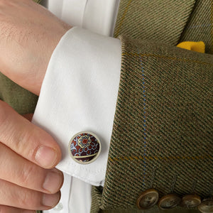 Silk Cufflinks in Liberty of London Paisley Park by the Belfast Bow Company