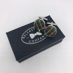 County Armagh Tartan Cufflinks by the Belfast Bow Company
