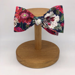 Liberty of London  Wedding Self Tie Bow Tie in Poppy Floral by the Belfast Bow Company