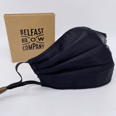 Liberty of London Black Silk Mask in by the Belfast Bow Company