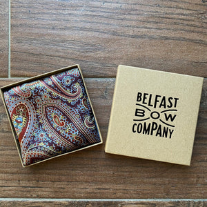 Liberty of London Silk Pocket Square in Paisley by the Belfast Bow Company