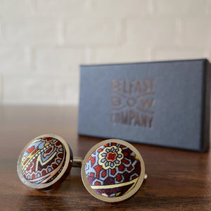 Liberty of London Silk Cufflinks in Paisley Park  by the Belfast Bow Company