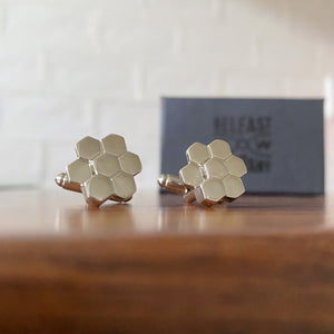 Giant's Causeway Cufflinks by the Belfast Bow Company