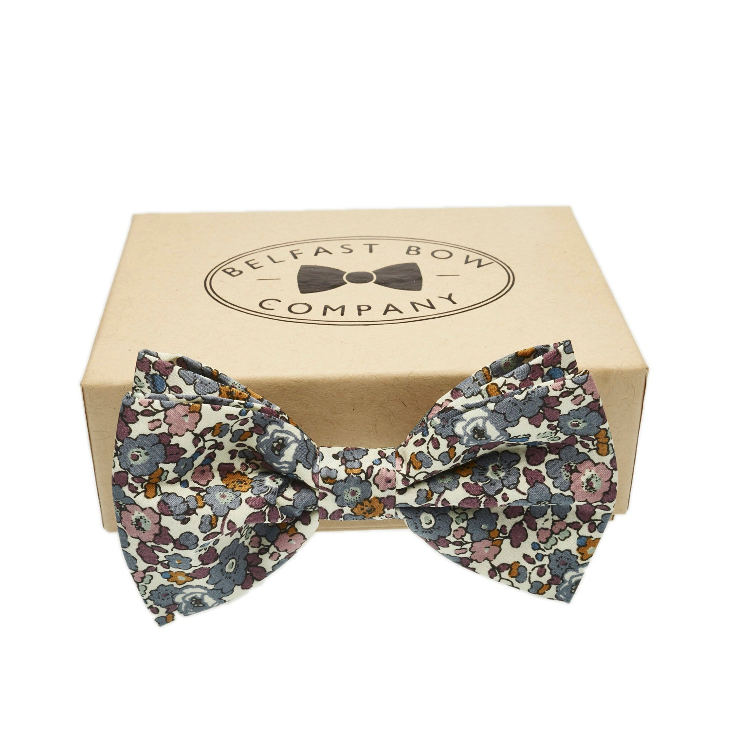 Liberty of London Bow Tie in Fig Floral by the Belfast Bow Company