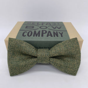 Islay Tweed Bow Tie in Olive Green by the Belfast Bow Company