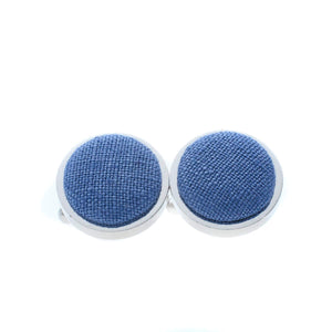 Irish Linen Cufflinks in Slate Blue by the Belfast Bow Company